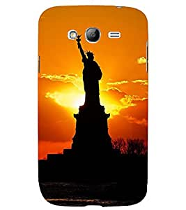 STATUE OF LIBERTY AT SUNSET 3D Hard Polycarbonate Designer Back Case Cover for Samsung Galaxy Grand i9080 :: Samsung Galaxy Grand i9082