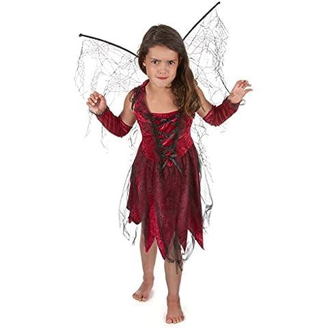 Disfraz hada maléfica roja negra niña - 4 - 6 años