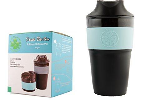 Lucklee, Coffee to go Becher, Kaffee-Becher für Reisen, Outdoor oder die Arbeit - Robuster Trink-Becher mit Deckel, Praktischer Reise-Becher - Optimal für Heiss- und Kaltgetränke, Zusammenklappbarer Isolier-Becher für unterwegs, Tee-Becher umweltfreundlich, recyclebar, auslaufsicher, spülmaschinengeeignet, Bpa frei und 350ml (Tee-und Isolier-becher)