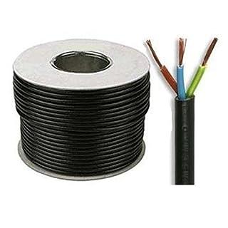 Black 3183Y 3 Core 0.75mm 6 Amp PVC Flexible Cable Cut To Length Flex (50 Meters)