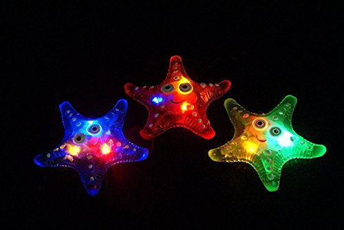 Wangc Jelly LED Seestern-Halskette Sensory Spielzeug für Kinder blinkende Party LED Seestern Halskette