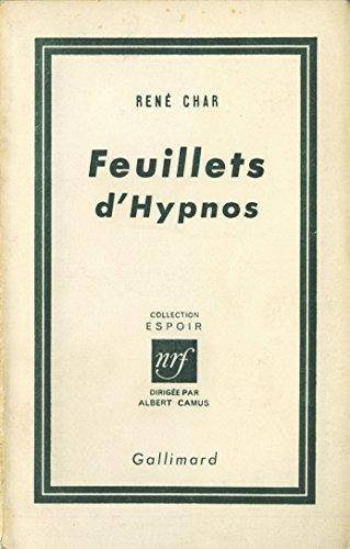 Feuillets d'Hypnos (Espoir) par René Char