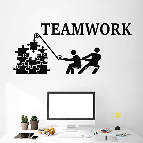 guijiumai Teamarbeit Wandbilder Wandtattoo Für Büro Dekor Teamarbeit Idee Inspiration Vinyl Poster Wandaufkleber Abnehmbare Wandaufkleber Lc 8 M 128 cm x 56 cm