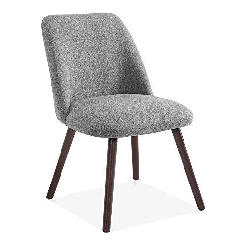 Hanover Sleek Scandinavian Dining Chair, Fabric Upholstered, Grey