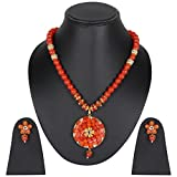 Beunew Party Wear Traditional Necklace Pendant With Earrings Set for Women & Girls (BEUNEW418)