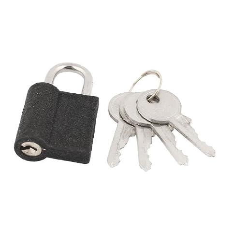 Tiroirs Famille de porte-Noir - 24 x Lock Cadenas avec 4 clés