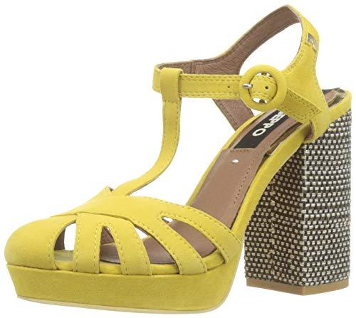 Zapatos amarillos de plataforma