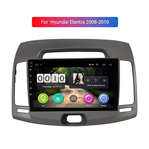 Radio del Coche Reproductor De Video Multimedia Navegación GPS Android 8.1 9 Pulgadas para Hyundai Elantra 2008-2010 Compatible, Equipado Con UNA CPU Quad Core DE 1.2 GHz,IPS 2.5D Screen