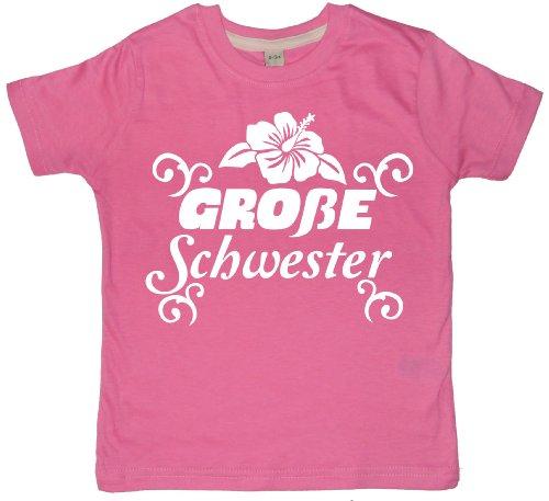 Baby & Kleinkind Rosa T-shirt 92-98 'GROßE SCHWESTER' (Große Schwester-kleinkind-shirt)
