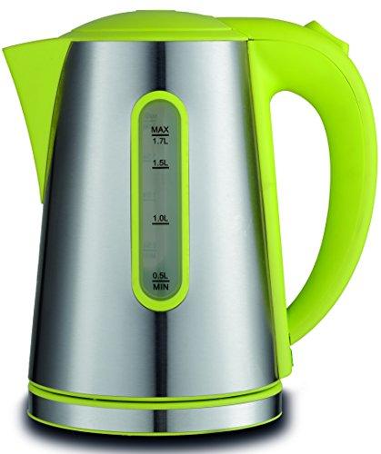 Hochwertiger Design Wasserkocher aus Edelstahl 1,7 Liter | Wassermangelsicherung | mit abnehmbarem Filter 1850-2200 Watt | Grün