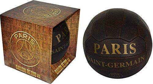 Coffret cadeau Ballon de football rétro PSG - Collection officielle Paris Saint Germain - Taille 5