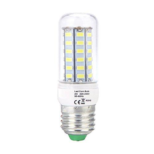 lumiere LED avec 56 LEDs - SODIAL(R)E27 5W 5730 SMD 56 LEDs en forme de mais ampoule lampe d'economie d'energie de 360 degres blanches chaudes 220-240V
