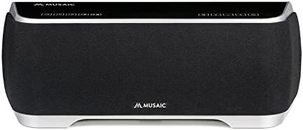 Musaic MP5 Music Player - Wireless smart home speaker for multi-room music streaming - Black/Silver