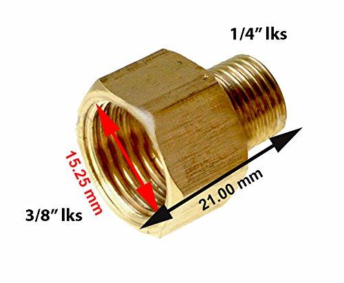 """Adapter G 3/8"""" links innen x G 1/4"""" links aussen Gewinde Übergangsstück Gas Reduzierstück"""