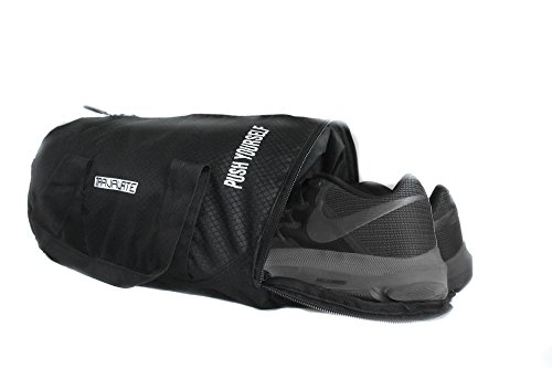 fe35df978b2b TRAVALATE Polyester Water Resistant Gym Duffle Bag (Black) with Separate  Shoe Compartment - IndyaGadgets.com