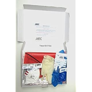 Complete Sealed Abestos Test Kit for DIY & Professional Use - 2 x Samples Per Kit - includes protective clothing, waste bags & 24 hour analysis by a UK government approved laboratory