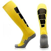 Fauhsto Calcetines Football Calcetines Sport Socks Towel Bottom Knee-High Socks Anti-Slip Unisex