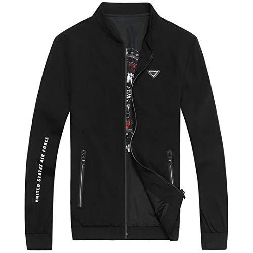 Herren Windjacke Bomber Polo Jacke Mantel Casual Outwear Herren Jacken Mäntel 2 6XL