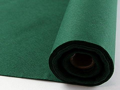 Selbstklebende Rückseite, Acryl Filz Stoff Mini Rolle 5m Holly Grün–Pro 5Meter Rolle