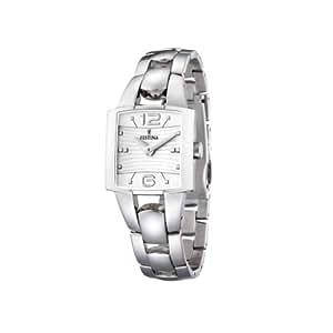 Festina Damen-Armbanduhr Trend Analog Quarz Edelstahl F16462/4