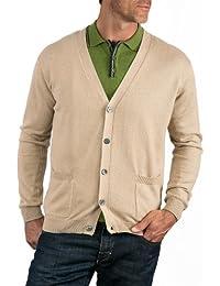 Wool Overs Gilet col V classique Homme en cachemire et coton