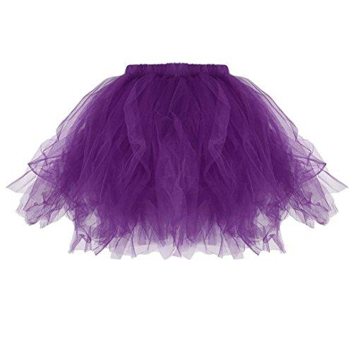 Kostüm Mini Plissee Kleid - Damen Rock ❀Dragon868 Hohe Qualität A Line Kurze Röcke Tutu Kostüm Erwachsenen Rock Plissee Mini Röcke (Lila, Freie Größe)