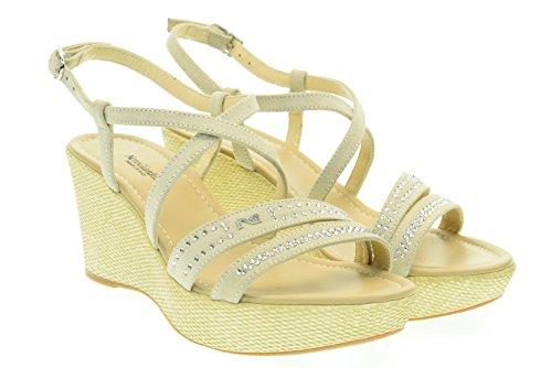 NERO GIARDINI donna sandali con zeppa P615624D/701 35 Sabbia-Str