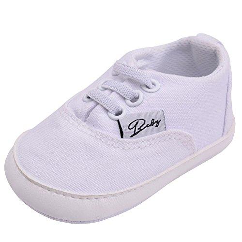 Haodasi Baby Schuhe Junge Mädchen Segeltuch Kleinkind Anti-Rutsch Erstes Gehen Krippe Schuh 0-24 Monate 12 Farbe Innenlänge:11cm(4.33in) (Natürliche Segeltuch-schuhe)