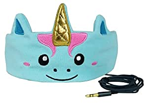 CozyPhones Kids Headphones. Comfy Headband Earphones, Light as Air and Great for Travel, Comes in Kid Friendly Animal and Anime Designs and Cute Colors like Green, Blue and Purple - MYSTIC UNICORN