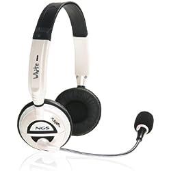 [Cable] NGS MSX6 Pro White - Auriculares de diadema cerrados, blanco