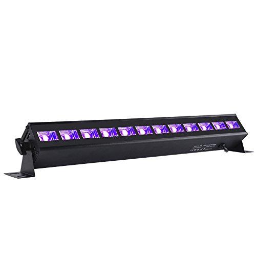 O LED UV-Schwarzlicht UV LED Lichteffekt PAR Licht Bühnenlicht Led Bühnenscheinwerfer PAR Licht für Bar Feiern Geburtstage Geschäfte Supermärkte Hochzeitsfeiern 12LEDs 36W (Halloween Auto-dekorationen-idee)