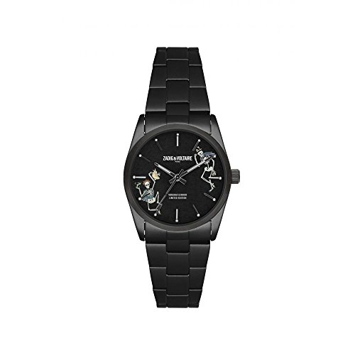 Zadig & Voltaire, ZVF417, orologio unisex al quarzo, quadrante stampato 36mm e cinturino argento in acciaio inox