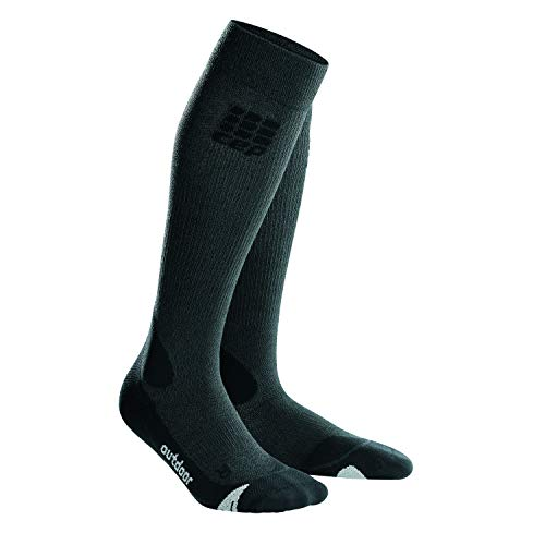 CEP Herren Pro+ Outdoor Merino Socken, Grey/Black, IV