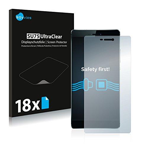 Savvies Schutzfolie für Huawei P8 [18er Pack] Folie Displayschutzfolie - Displayfolie klar