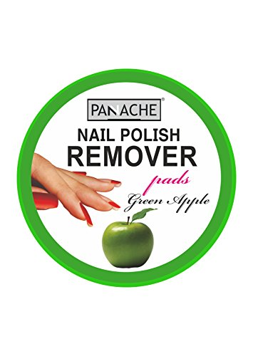 Panache Nail Polish Remover Pads, Green Apple