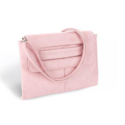 CAACOO Donna Sera Borsa a spalla Borsetta di Clutch Bag ed borse da spalla Rosa