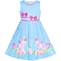 Girls Dress Brown Butterfly Double Bow Tie Party Kids Sundress