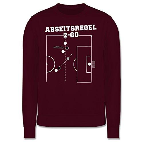 Fußball - Abseitsregel-2-Go - Herren Premium Pullover Burgundrot
