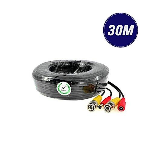 BNC Câble vidéo et alimentation pour vidéosurveillance