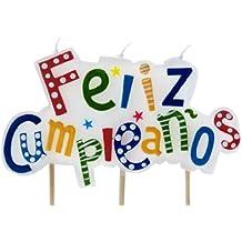 "Ibili 786216 - Vela ""Feliz Cumpleaños"" 7 cm"