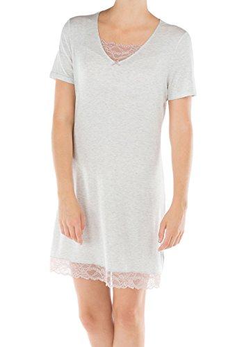 Calida - Chemise de nuit - Femme blanc Weiß soft grey melé