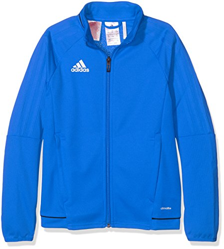 adidas Kinder Tiro 17 Jacke, Blue/Collegiate Navy/White, 164 (Jacke Navy Adidas Blau)