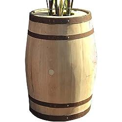 Reciclado Roble Macizo vino barril maceteros, Rustic