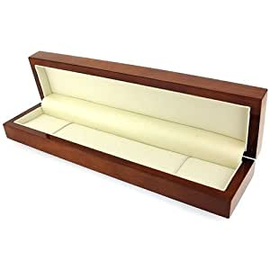 The Olivia Collection High Quality Wooden Gloss Bracelet Jewellery Gift Box