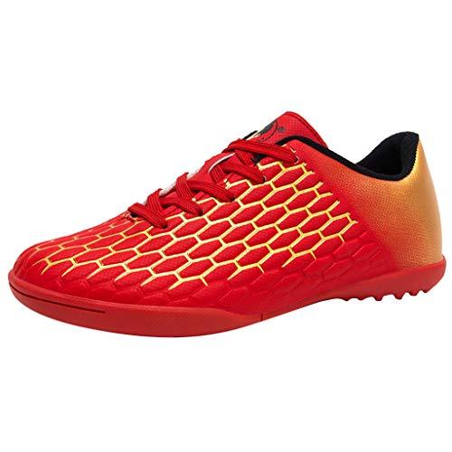 Fenverk Damen Erwachsene Tenaz Multisport Indoor Schuhe Veloz Ng Multisport Indoor Sneaker Gel-Cumulus Laufschuhe Sportschuhe Gr. 34-38(Red,37 EU) -