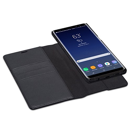 CASEZA Galaxy Note 8 2 in 1 Kunstleder Case Hülle Zurich schwarz PU Lederhülle Ledertasche Flip Cover Leder Tasche für Original Samsung Galaxy Note 8 - Wallet Case mit abnehmbarem Backcover - Case Note Wallet Galaxy 3 Leather