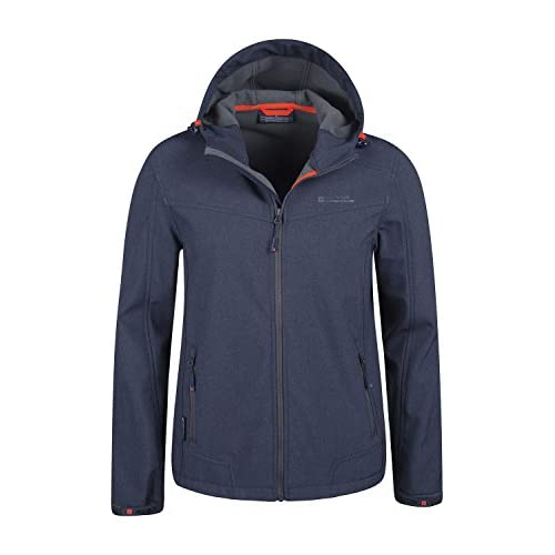 417A6UJ%2BY L. SS500  - Mountain Warehouse Reykjavik Mens Textured Softshell Jacket - Water Resistant, Breathable Shell Jacket, Adjustable, Fleece Jacket Lining - for Winter Travelling