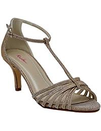 479e33353d7d Rainbow Club Estelle - Gold Metallic T-Bar Strappy Sandal Wedding Shoes