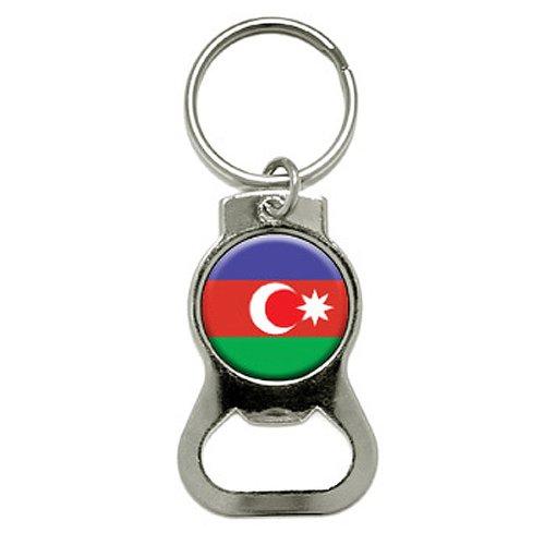 Apribottiglie bandiera Azerbaijan Republic-Apribottiglie anello portachiavi