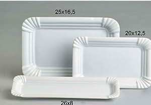 4 imbissteller 25x16 5 cm teller servierplatte porzellan f r currywurst k che. Black Bedroom Furniture Sets. Home Design Ideas